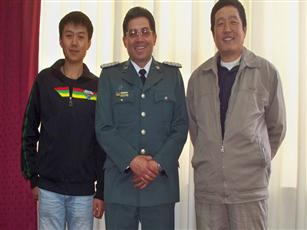 Our engineers were decorated for their contributions by officials of Bolivia